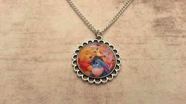 Handgemaakte kinderketting met winni de pooh